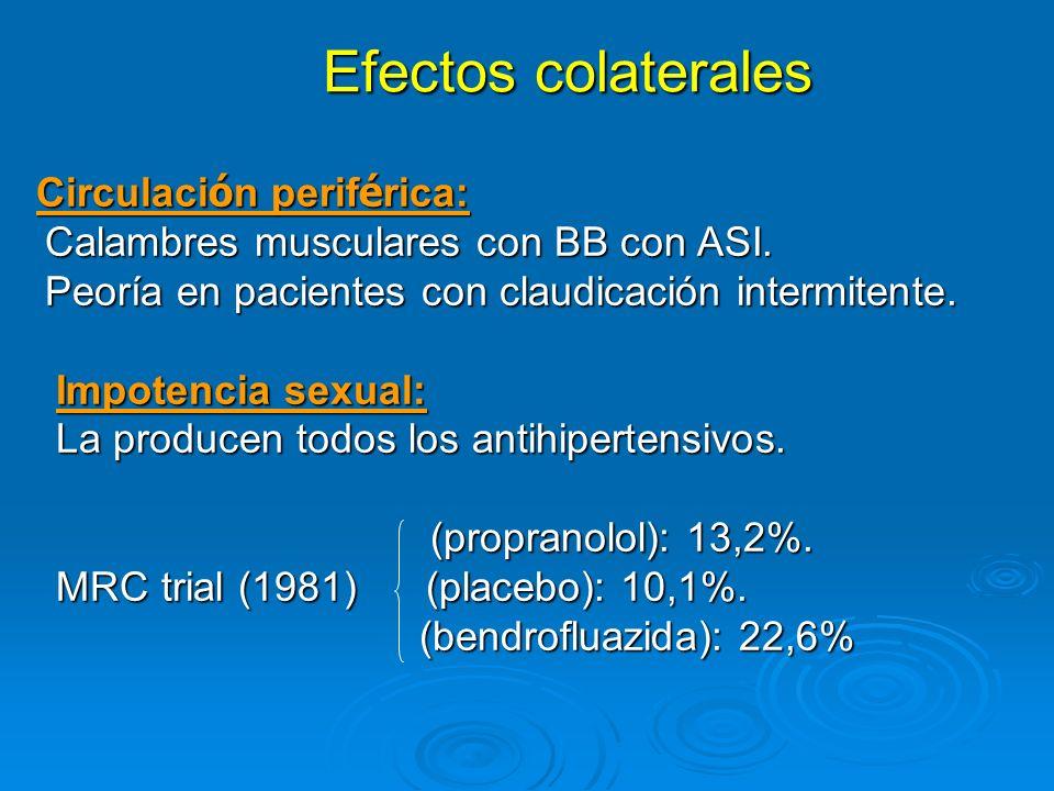 Efectos colaterales Calambres musculares con BB con ASI.