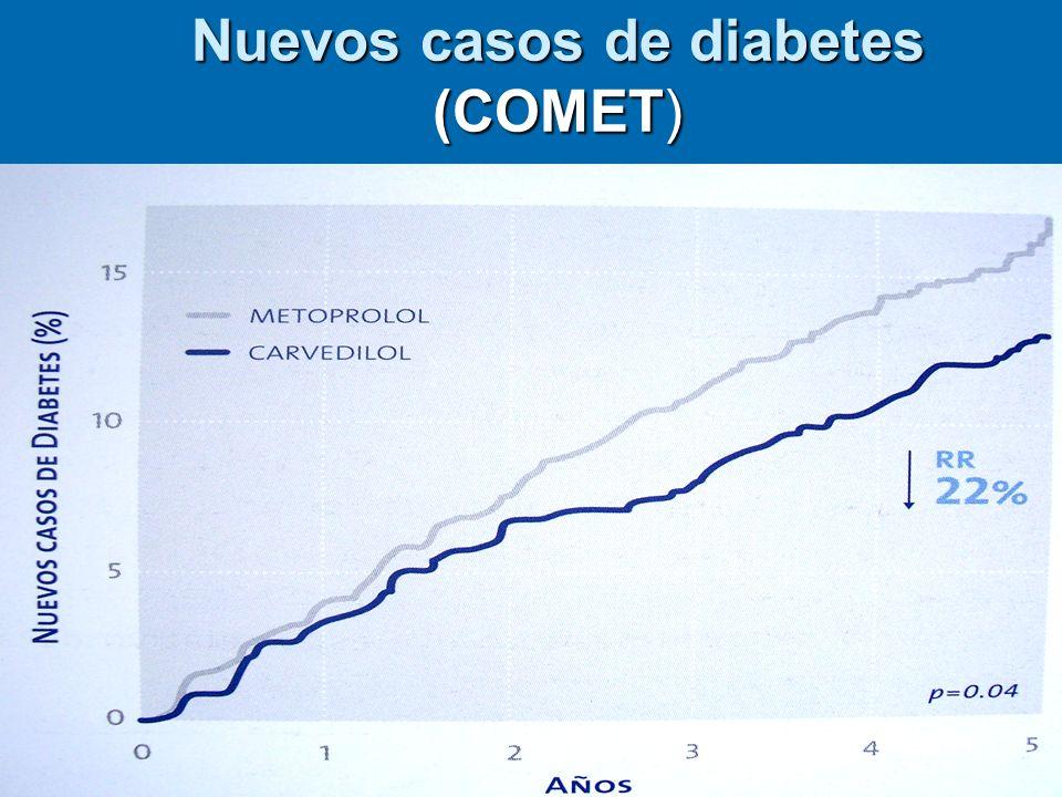 Nuevos casos de diabetes (COMET)