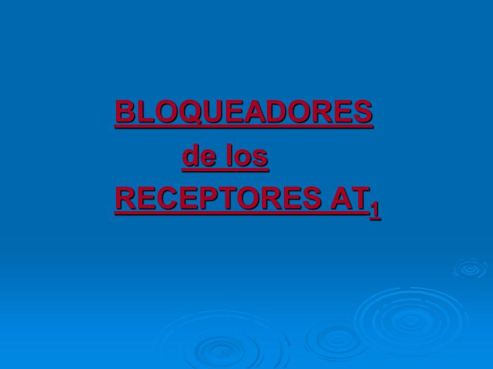 BLOQUEADORES de los RECEPTORES AT1