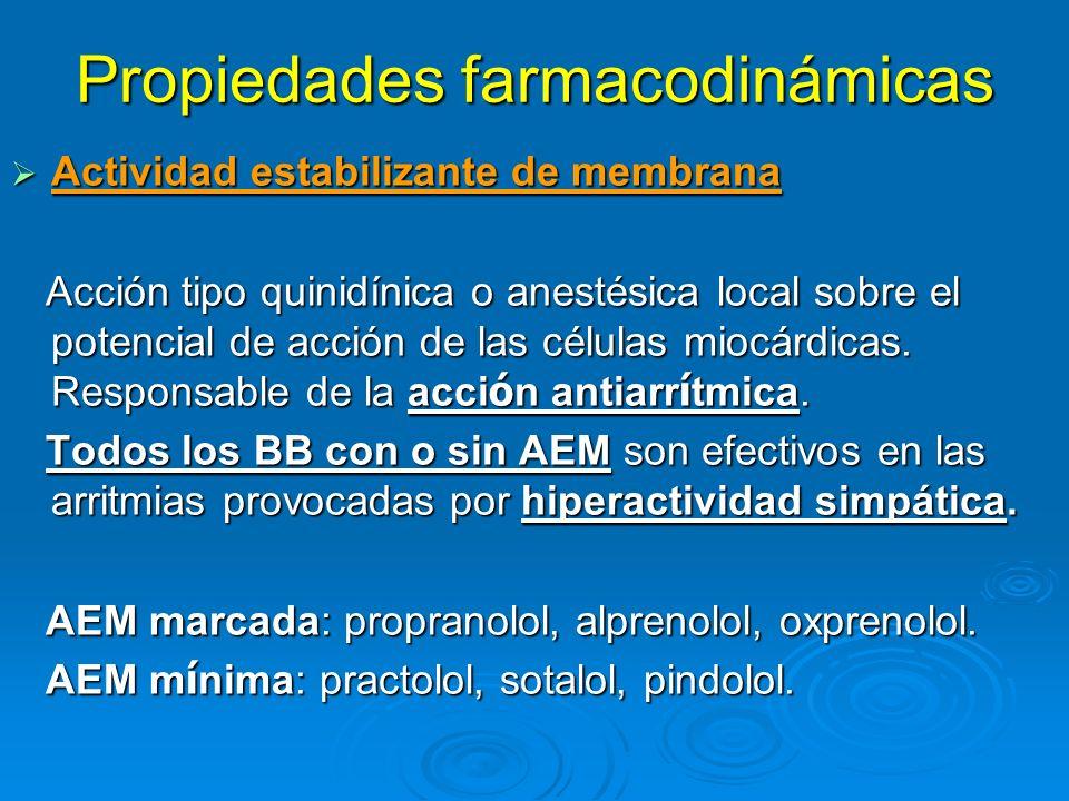 Propiedades farmacodinámicas