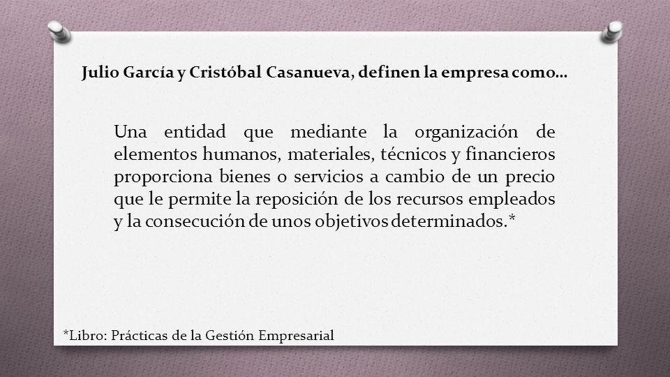 Julio García y Cristóbal Casanueva, definen la empresa como…