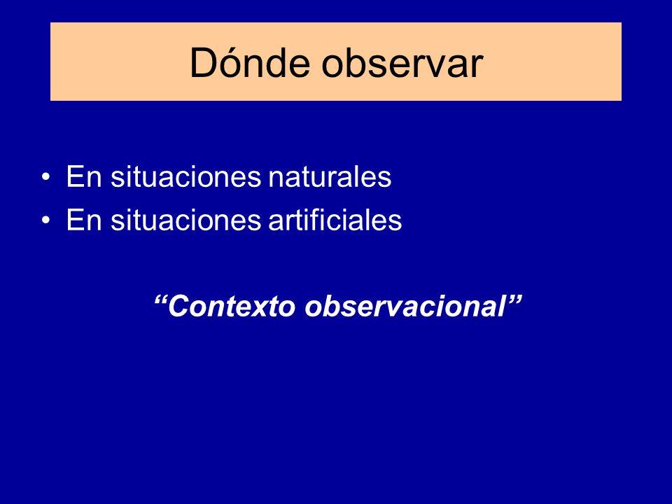 Contexto observacional