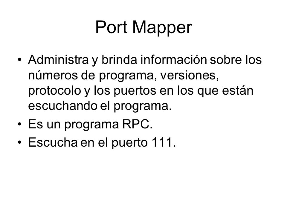 Port Mapper