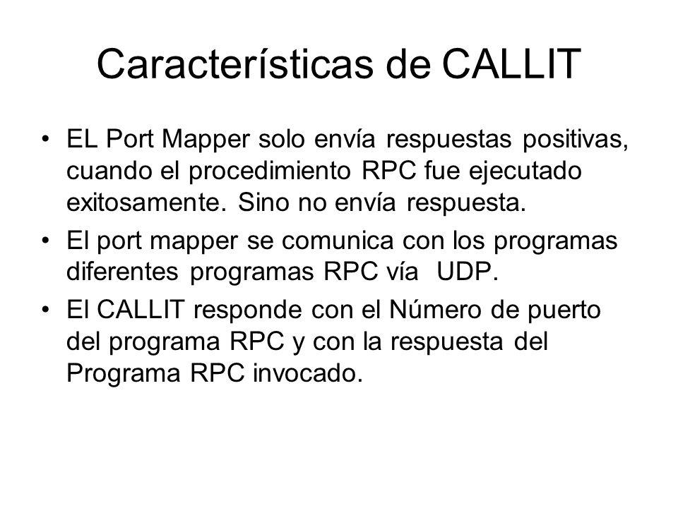 Características de CALLIT