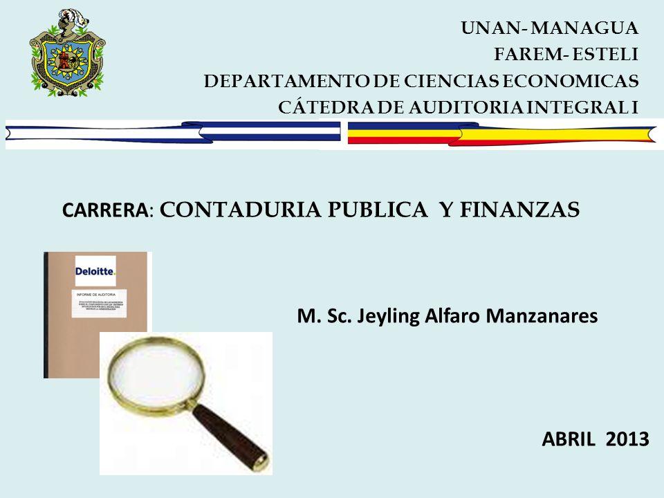 CARRERA: CONTADURIA PUBLICA Y FINANZAS