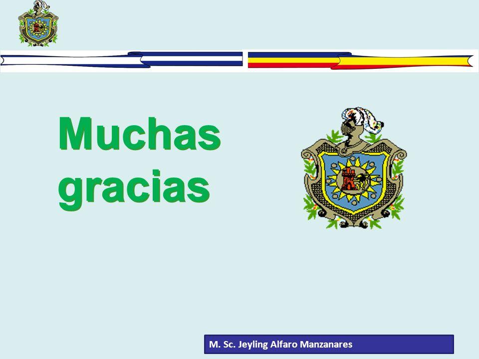 Muchas gracias M. Sc. Jeyling Alfaro Manzanares