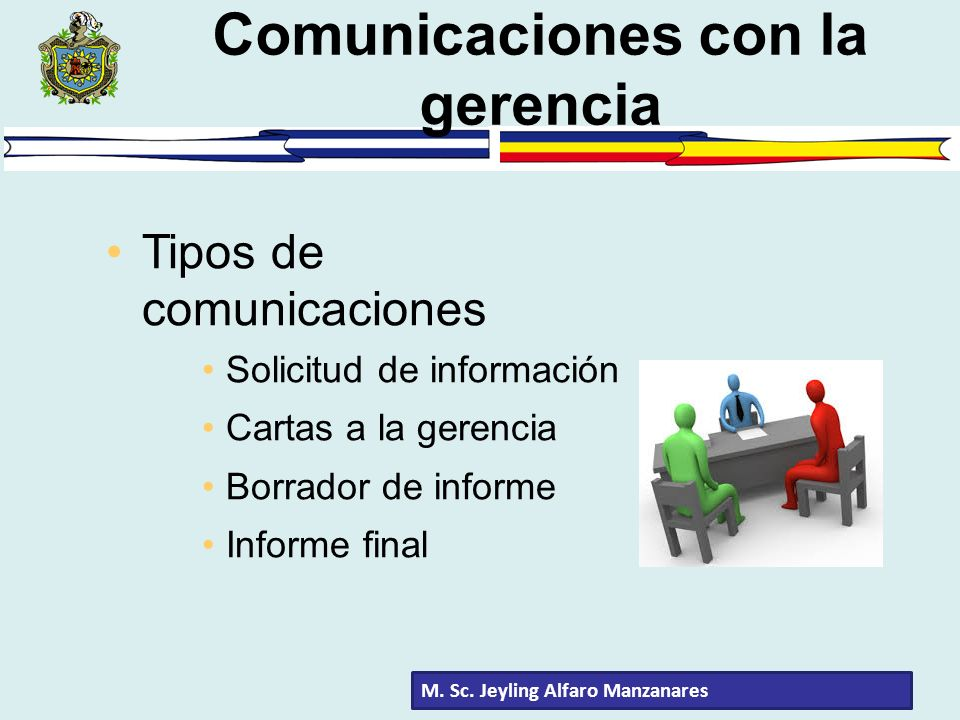 Comunicaciones con la gerencia