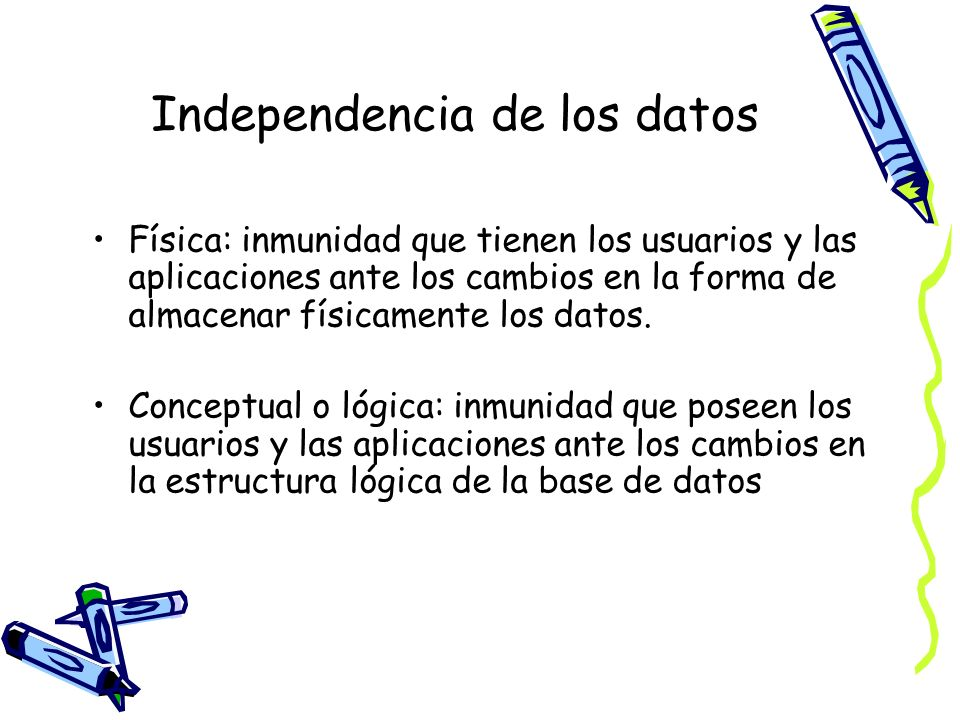 Independencia de los datos