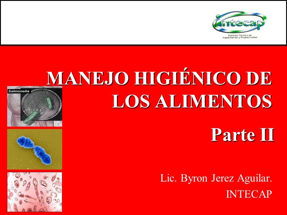 MANEJO HIGIÉNICO DE LOS ALIMENTOS