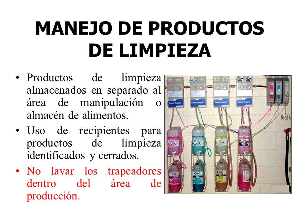 MANEJO DE PRODUCTOS DE LIMPIEZA