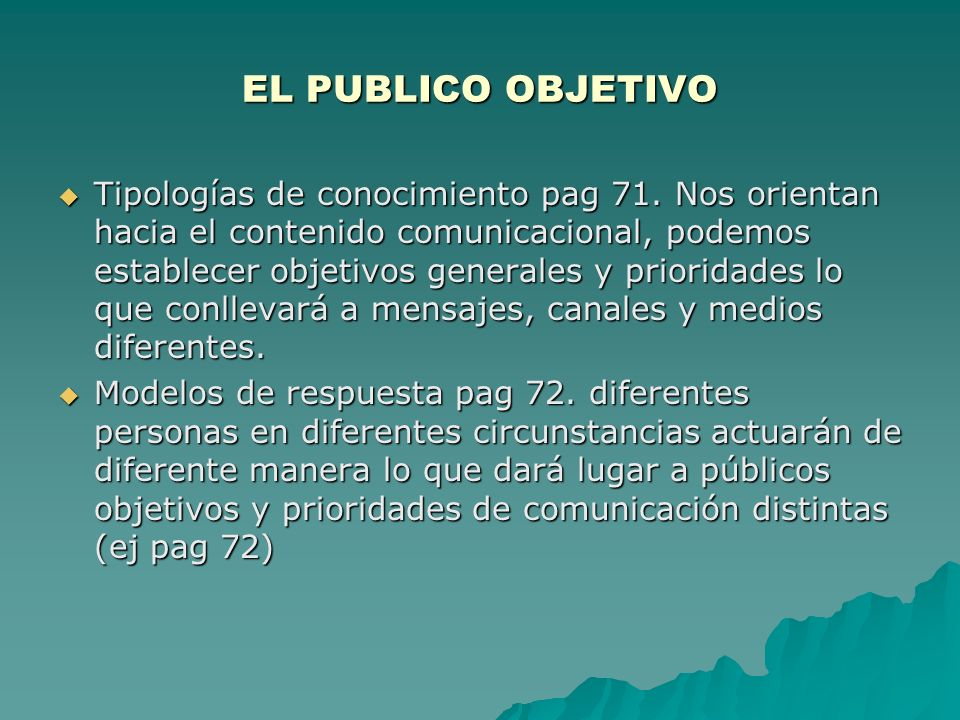 EL PUBLICO OBJETIVO