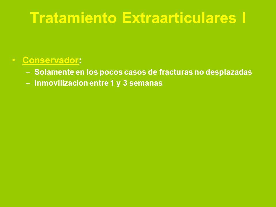 Tratamiento Extraarticulares I