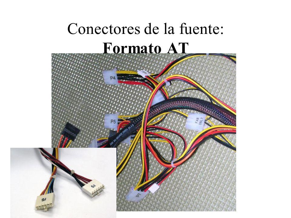 Conectores de la fuente: Formato AT