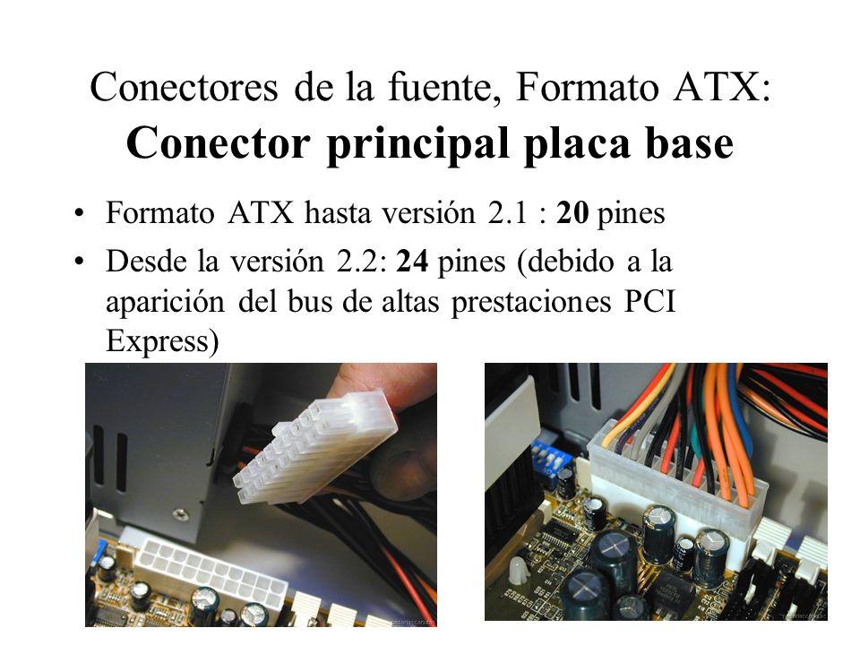 Conectores de la fuente, Formato ATX: Conector principal placa base