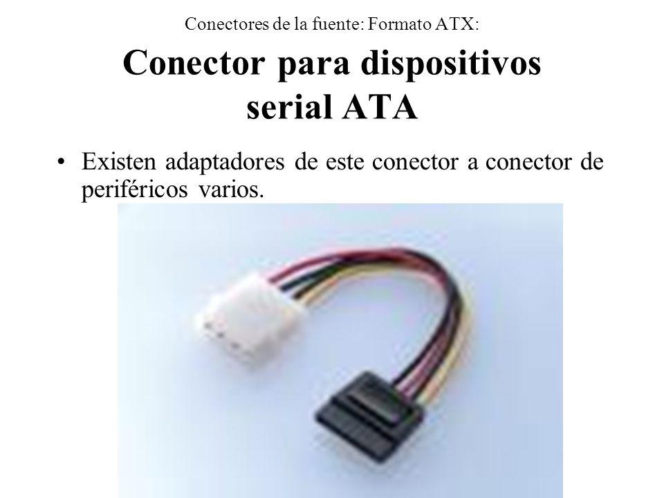 Existen adaptadores de este conector a conector de periféricos varios.