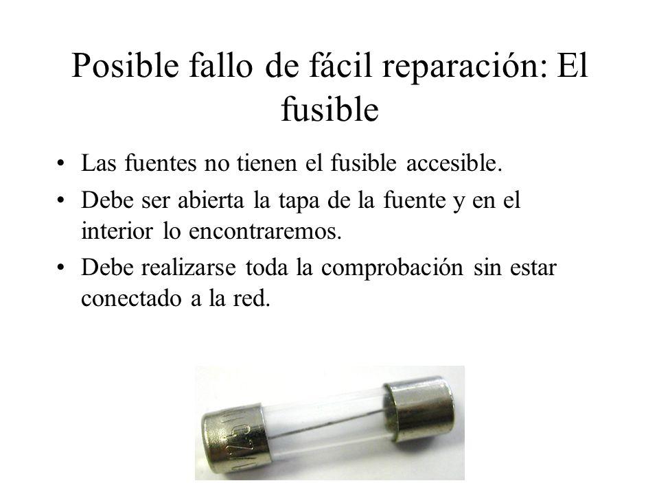 Posible fallo de fácil reparación: El fusible
