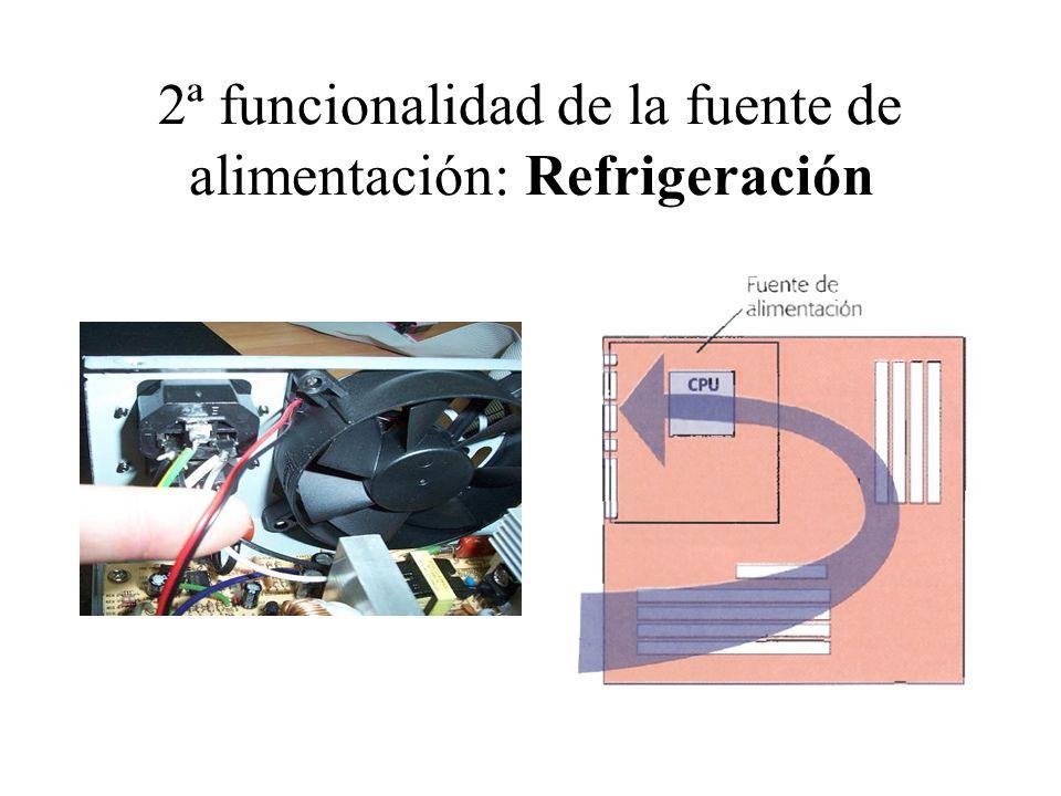 2ª funcionalidad de la fuente de alimentación: Refrigeración