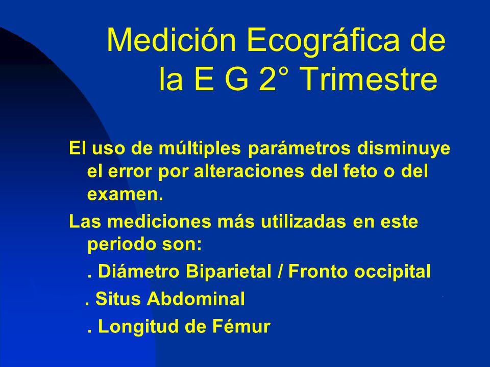 Medición Ecográfica de la E G 2° Trimestre