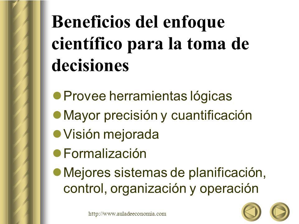 Beneficios del enfoque científico para la toma de decisiones