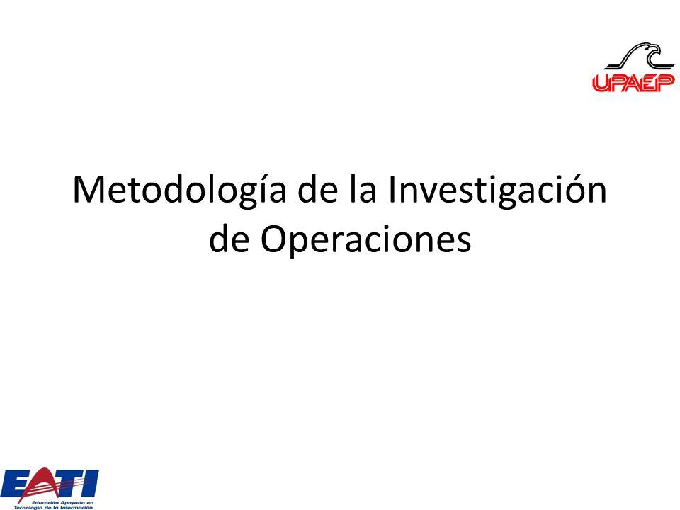 Metodología de la Investigación de Operaciones