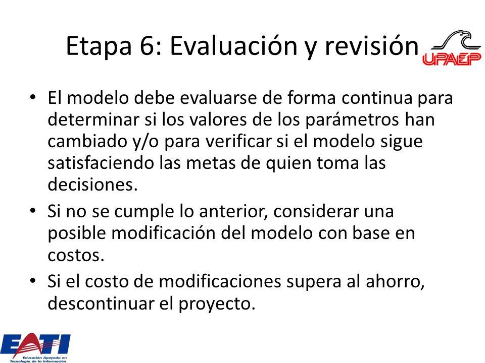 Etapa 6: Evaluación y revisión
