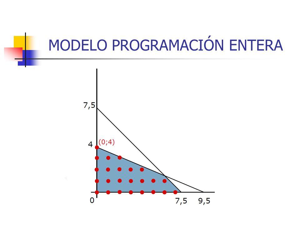MODELO PROGRAMACIÓN ENTERA