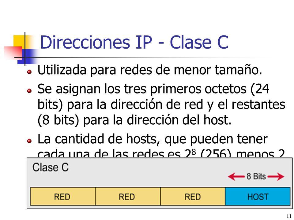 Direcciones IP - Clase C