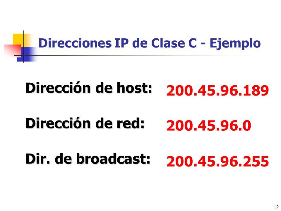 Direcciones IP de Clase C - Ejemplo