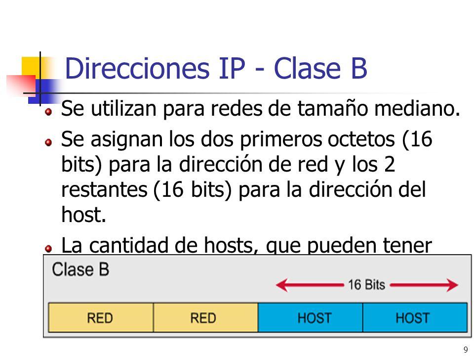 Direcciones IP - Clase B