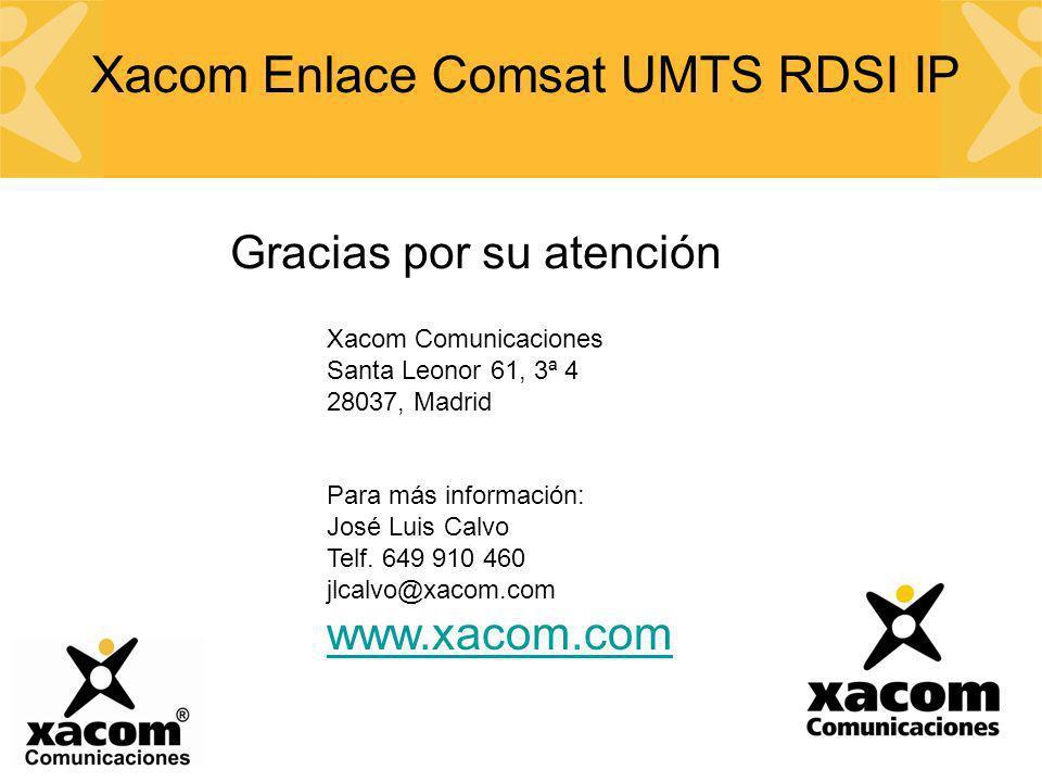 Xacom Enlace Comsat UMTS RDSI IP