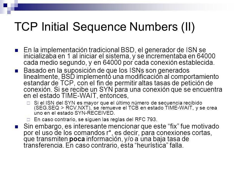 TCP Initial Sequence Numbers (II)