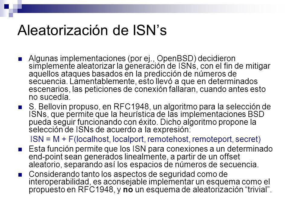Aleatorización de ISN's