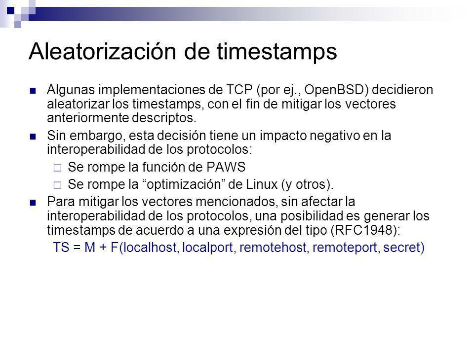 Aleatorización de timestamps