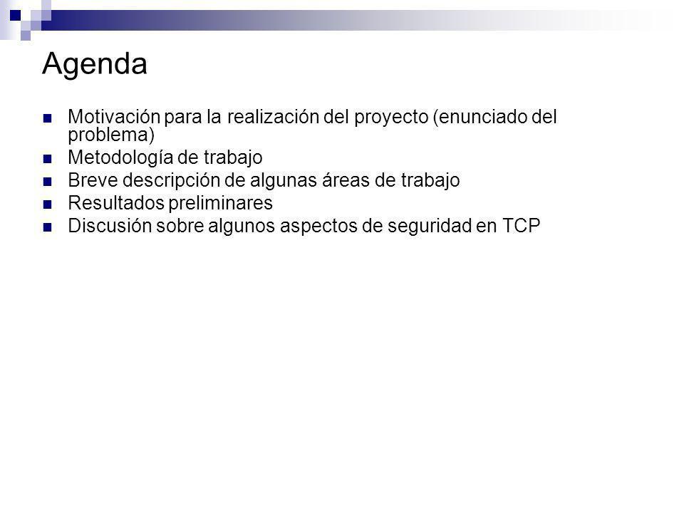 Agenda Motivación para la realización del proyecto (enunciado del problema) Metodología de trabajo.