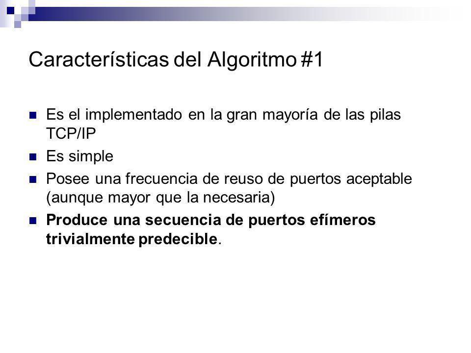 Características del Algoritmo #1