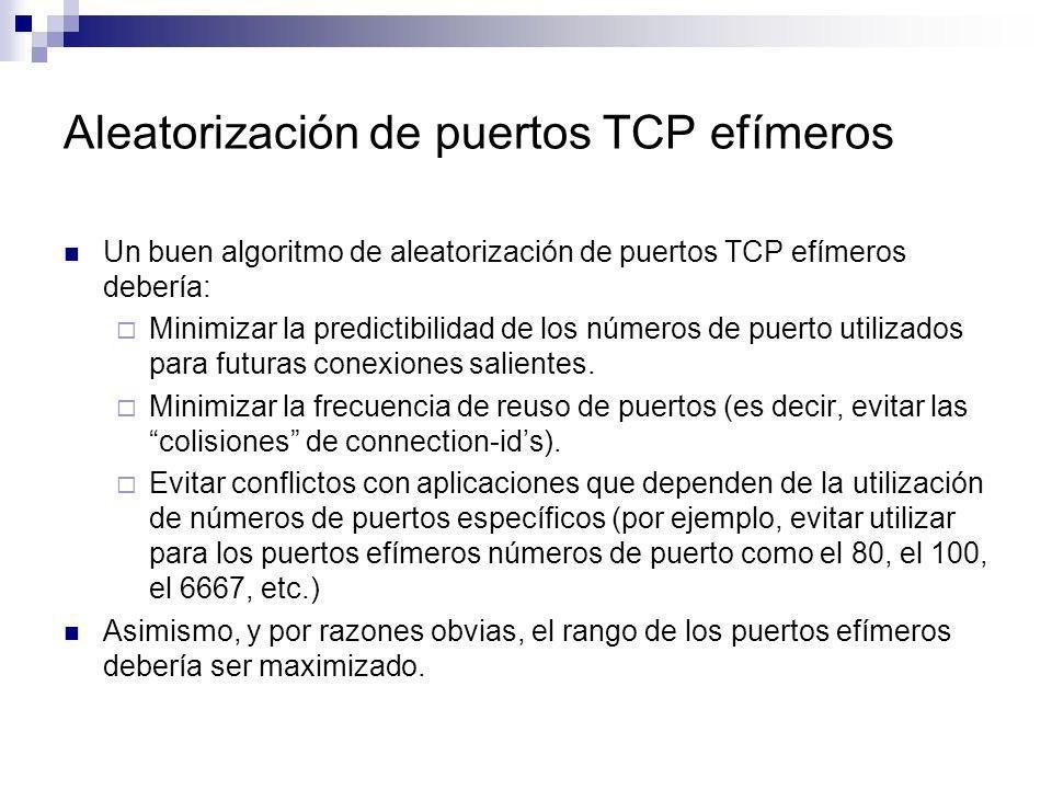 Aleatorización de puertos TCP efímeros