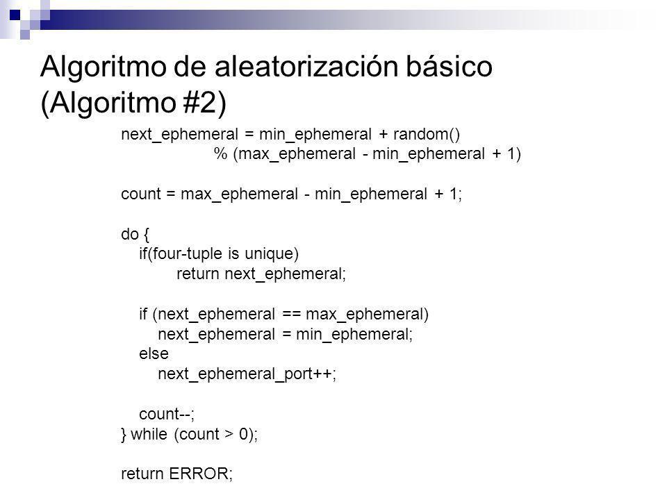 Algoritmo de aleatorización básico (Algoritmo #2)