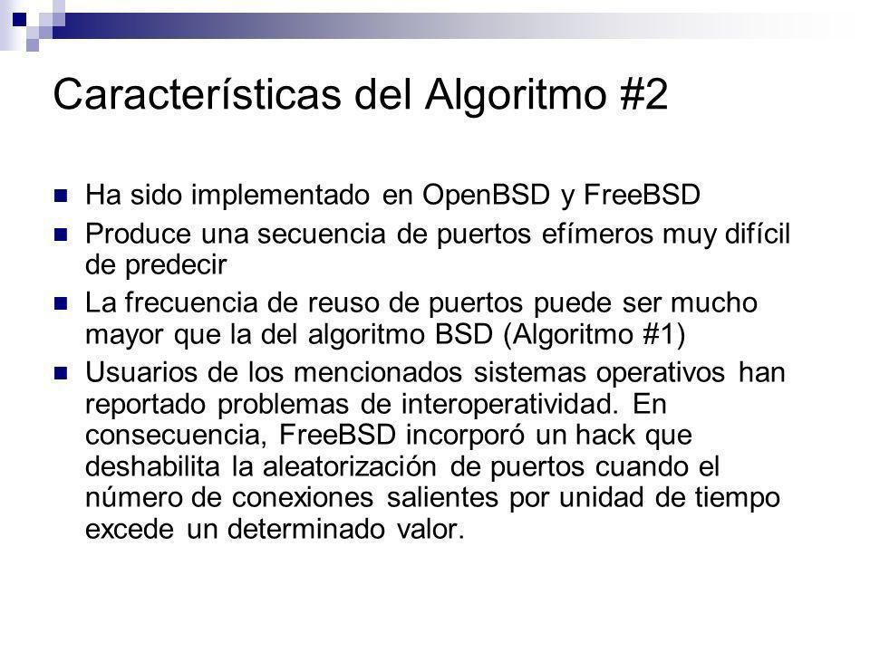 Características del Algoritmo #2