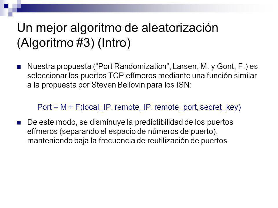 Un mejor algoritmo de aleatorización (Algoritmo #3) (Intro)