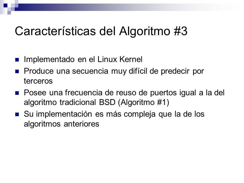 Características del Algoritmo #3