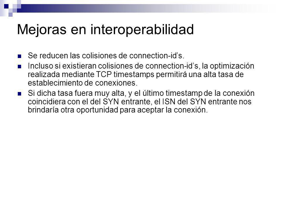 Mejoras en interoperabilidad