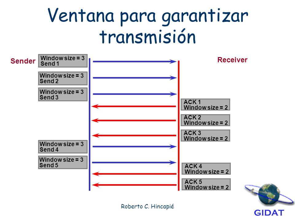 Ventana para garantizar transmisión