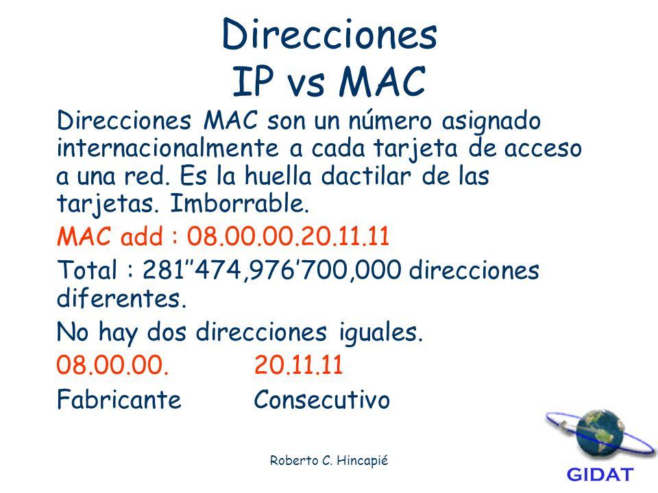 Direcciones IP vs MAC