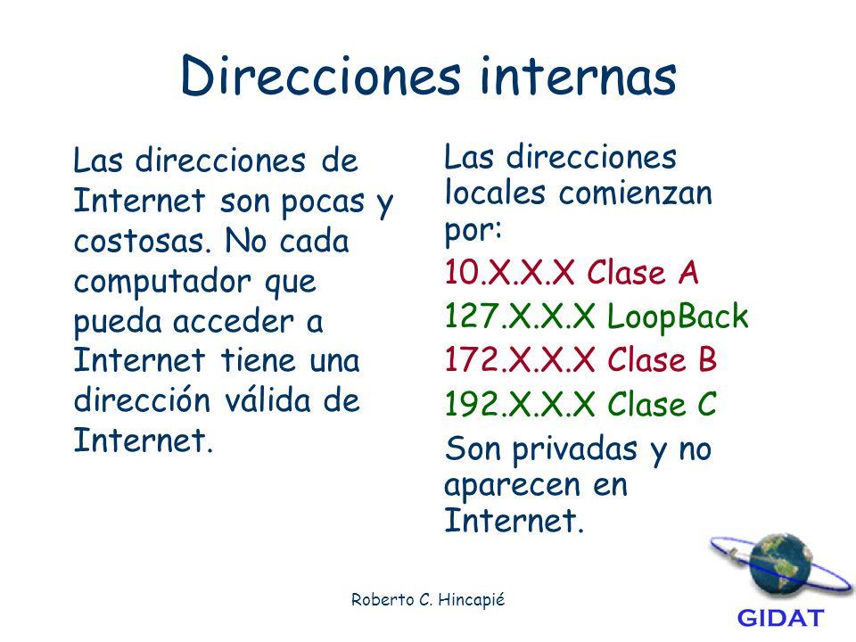 Direcciones internas
