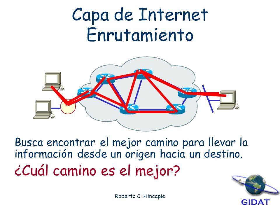 Capa de Internet Enrutamiento
