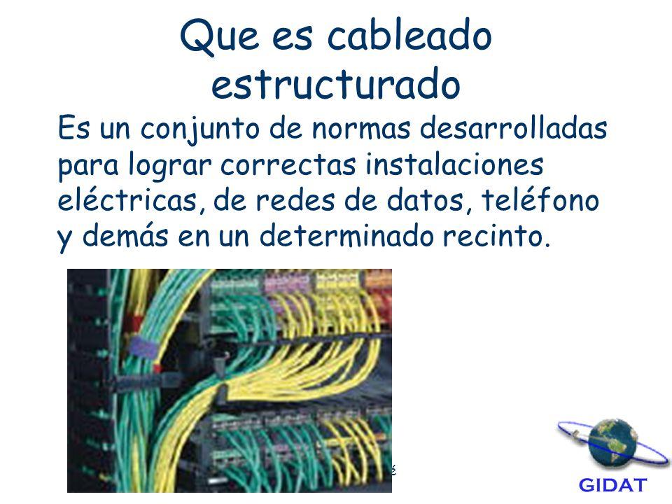 Que es cableado estructurado