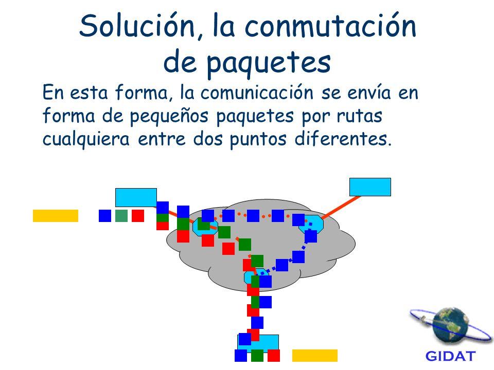 Solución, la conmutación de paquetes