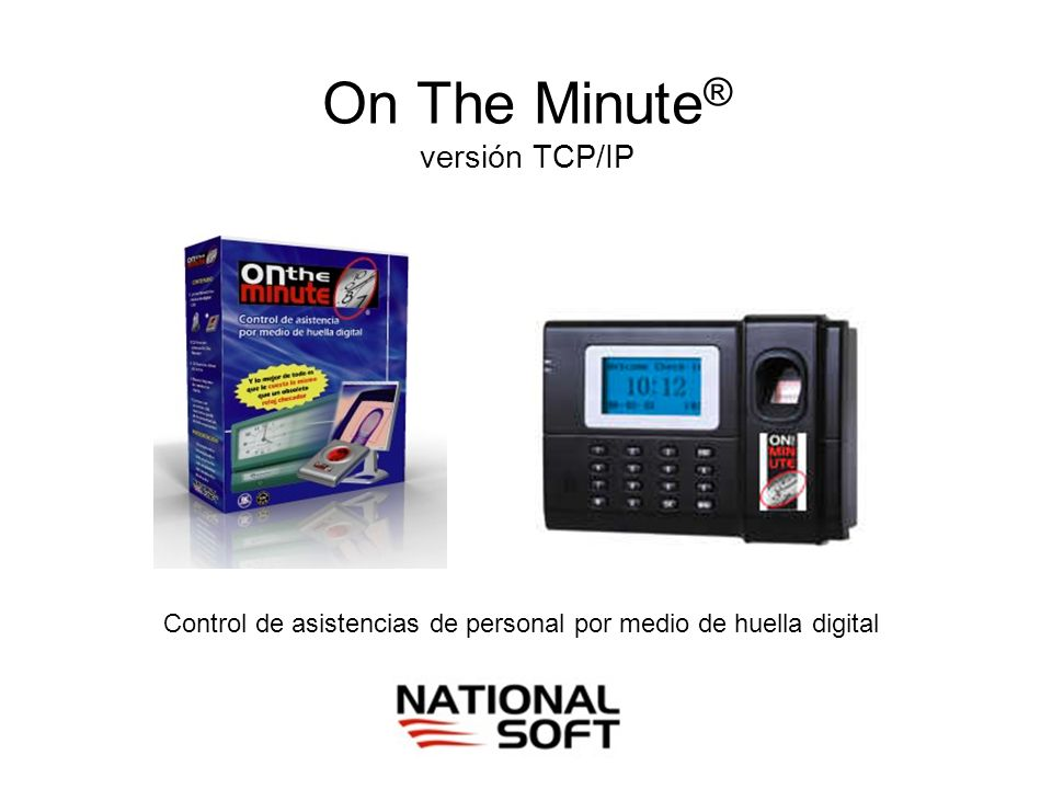 On The Minute® versión TCP/IP