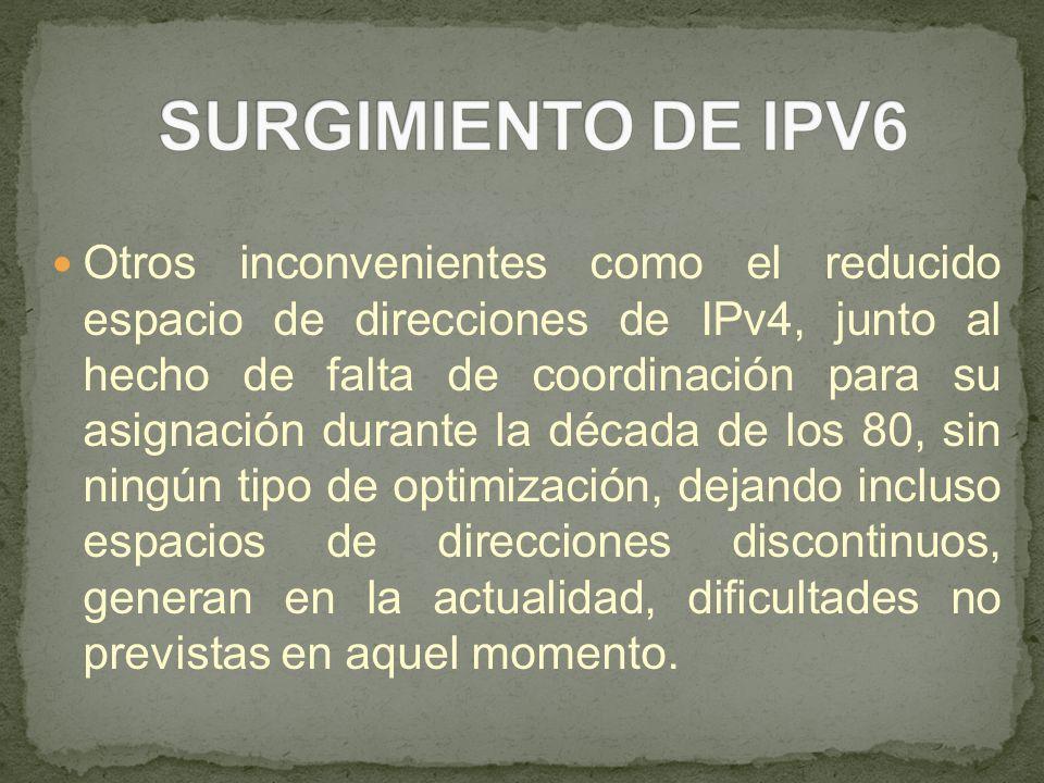 SURGIMIENTO DE IPV6