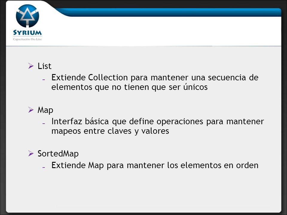 Extiende Map para mantener los elementos en orden